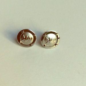 Michael Kors earrings like new silver tone